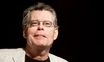 Author Stephen King at a press event to unveil the Kindle 2