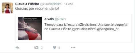 Tuit Claudia Piñeiro