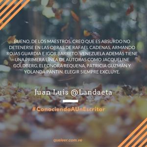 ¿Cuál autor venezolano actual recomienda leer-