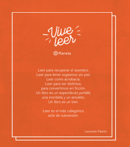 Manifiesto #ViveLeer