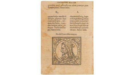 """""""Doctrina Cristiana y Catecismo para Instrucción de los Indios"""" fue un libro publicado en Lima en 1584."""